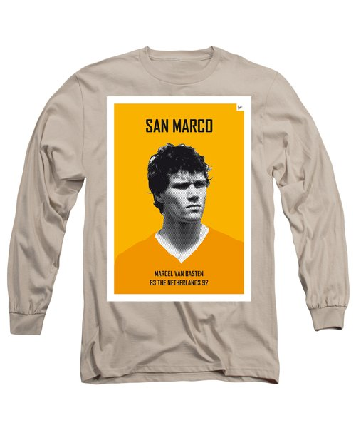 My Van Basten Soccer Legend Poster Long Sleeve T-Shirt