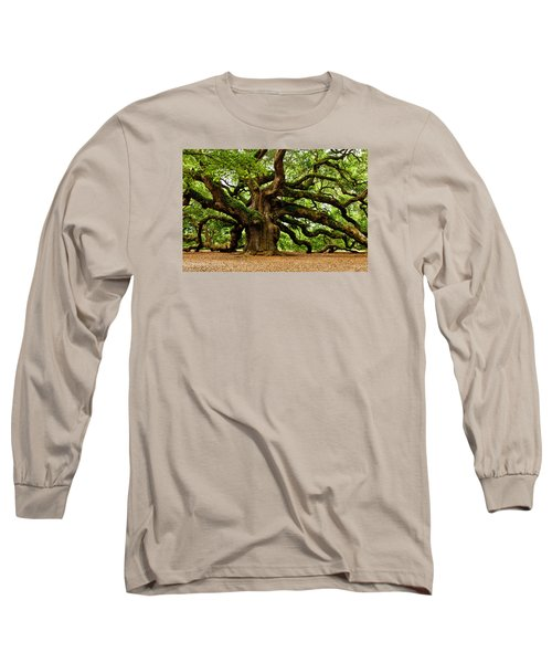 Mystical Angel Oak Tree Long Sleeve T-Shirt