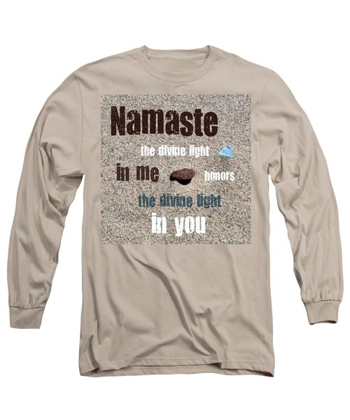 Namaste With Beach Glass And Pebble Long Sleeve T-Shirt