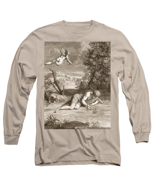 Narcissus Transformed Into A Flower Long Sleeve T-Shirt