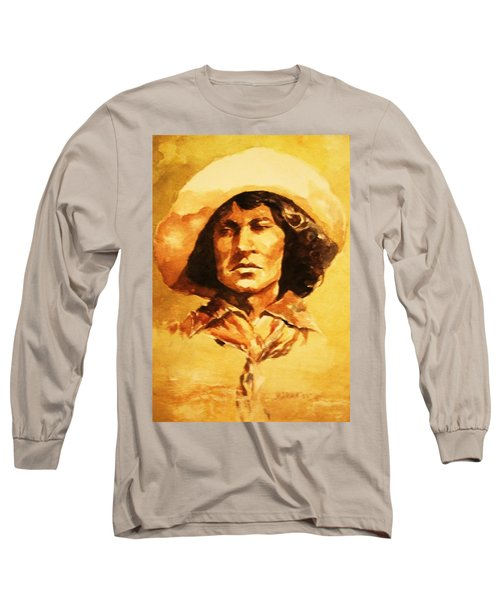 Nat Love Bronc Buster Long Sleeve T-Shirt by Al Brown
