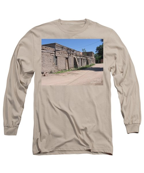 Long Sleeve T-Shirt featuring the photograph Native American Adobe Pueblo by Dora Sofia Caputo Photographic Art and Design