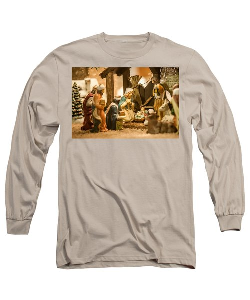 Long Sleeve T-Shirt featuring the photograph Nativity Set by Alex Grichenko