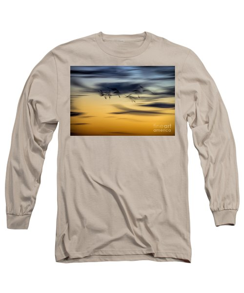 Natural Abstract Art Long Sleeve T-Shirt by Peggy Hughes