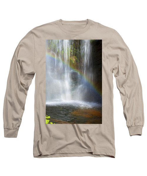 Long Sleeve T-Shirt featuring the photograph Natures Rainbow Falls by Jerry Cowart