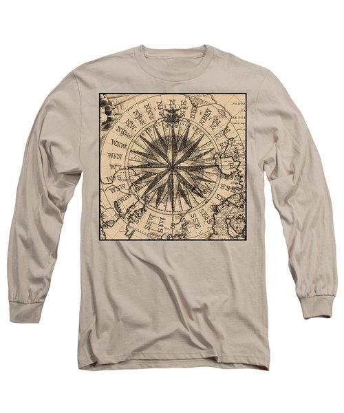 Long Sleeve T-Shirt featuring the painting Nautical II by James Christopher Hill