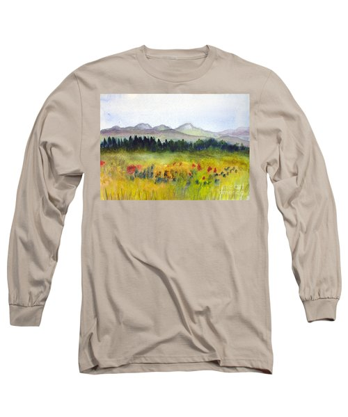 Nek Mountains And Meadows Long Sleeve T-Shirt by Donna Walsh