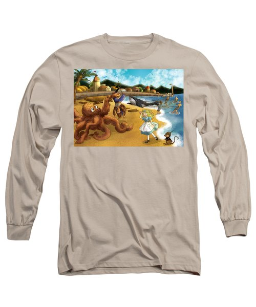 Nellie The Octopus Long Sleeve T-Shirt by Reynold Jay