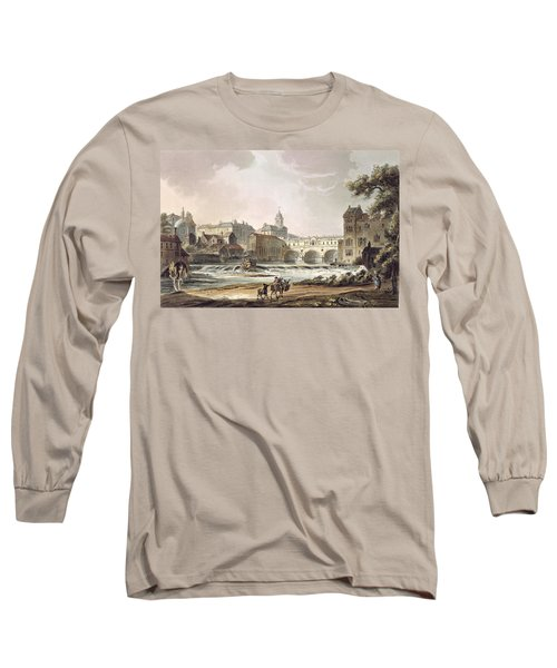 New Bridge, From Bath Illustrated Long Sleeve T-Shirt