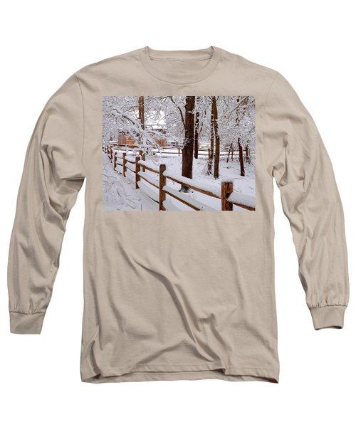 New England Winter Long Sleeve T-Shirt by Dianne Cowen