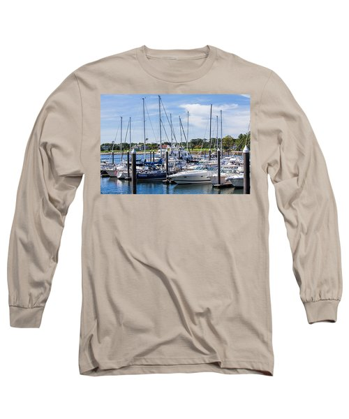 New Hampshire Marina Long Sleeve T-Shirt by Fred Larson