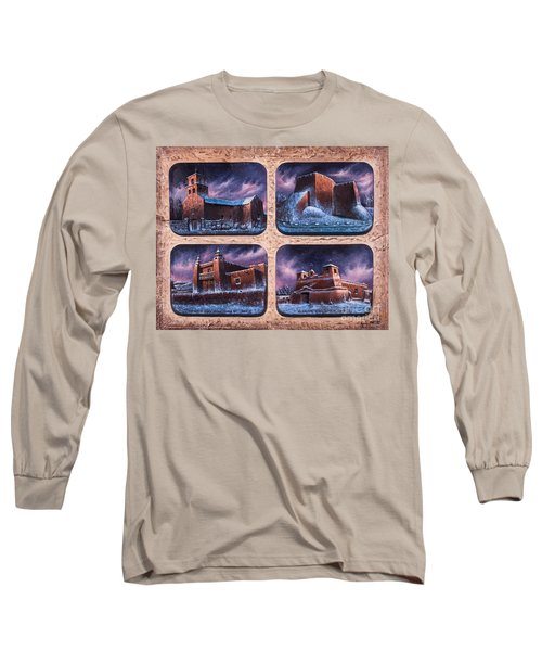 New Mexico Churches In Snow Long Sleeve T-Shirt