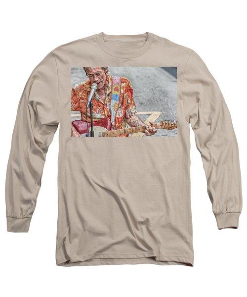 New Orleans Guitar Man Long Sleeve T-Shirt