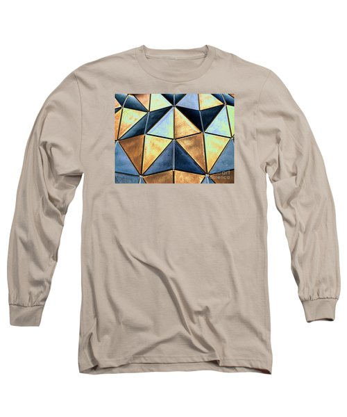 Pop Art Abstract Art Geometric Shapes Long Sleeve T-Shirt