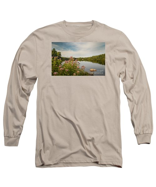 Long Sleeve T-Shirt featuring the photograph New York Lake by Debbie Green