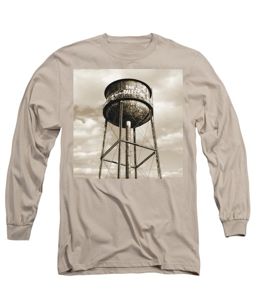 Long Sleeve T-Shirt featuring the photograph New York Water Towers 11 - Greenpoint Brooklyn by Gary Heller