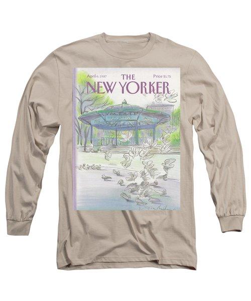 New Yorker April 6th, 1987 Long Sleeve T-Shirt