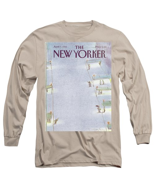 New Yorker April 7th, 1986 Long Sleeve T-Shirt
