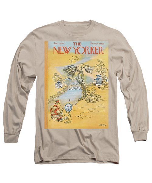 New Yorker January 12th, 1957 Long Sleeve T-Shirt