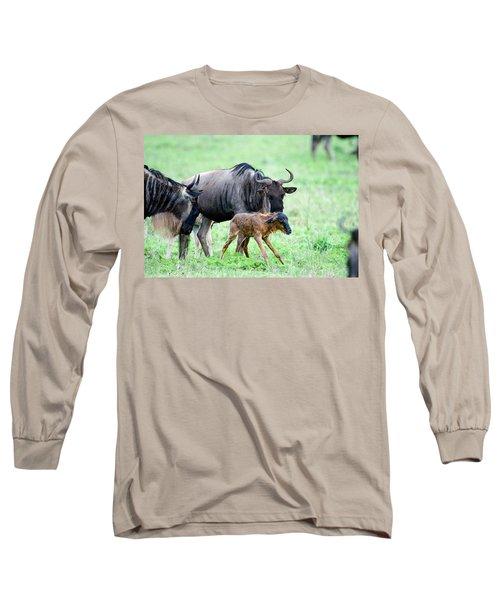 Newborn Wildebeest Calf Long Sleeve T-Shirt
