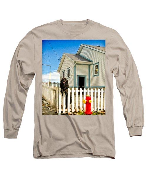 Newfoundland Dog In Newfoundland Long Sleeve T-Shirt