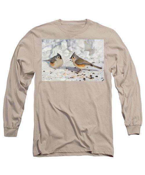 Nice Pair Of Titmice Long Sleeve T-Shirt
