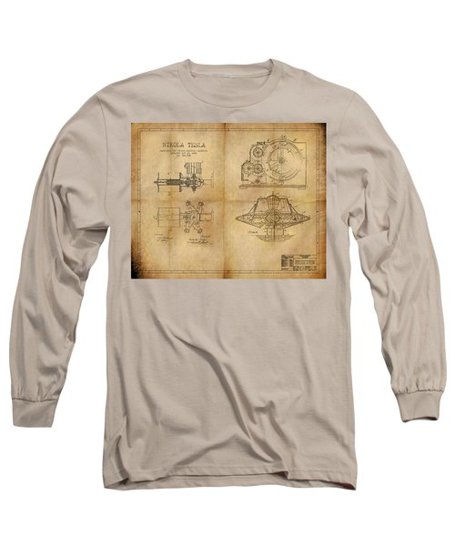 Long Sleeve T-Shirt featuring the painting Nikola Telsa's Work by James Christopher Hill