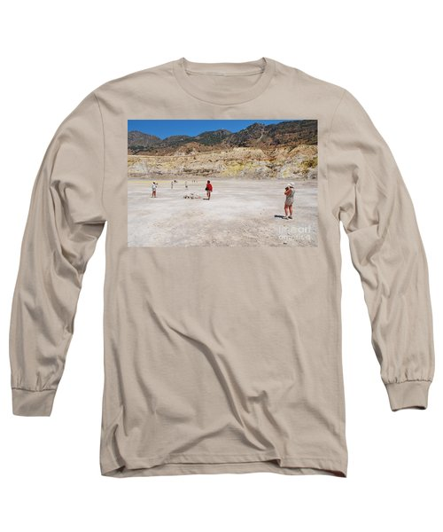 Nisyros Volcano Greece Long Sleeve T-Shirt