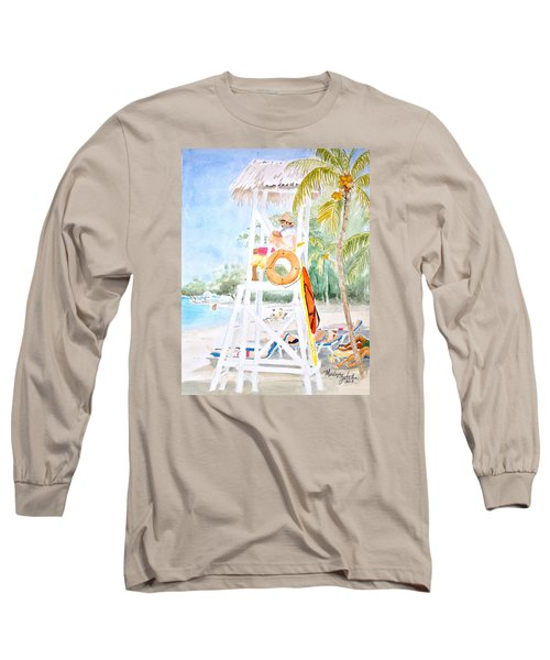 No Problem In Jamaica Mon Long Sleeve T-Shirt by Marilyn Zalatan