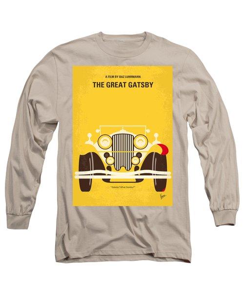 No206 My The Great Gatsby Minimal Movie Poster Long Sleeve T-Shirt by Chungkong Art