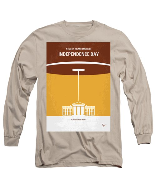 No249 My Independence Day Minimal Movie Poster Long Sleeve T-Shirt