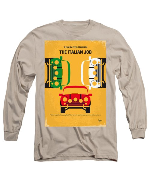 No279 My The Italian Job Minimal Movie Poster Long Sleeve T-Shirt