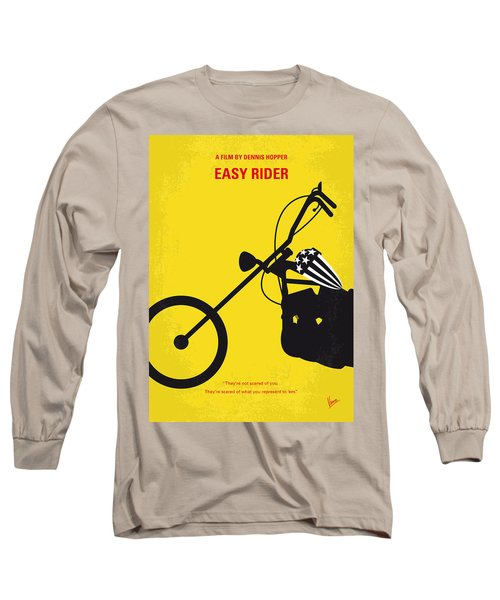 No333 My Easy Rider Minimal Movie Poster Long Sleeve T-Shirt by Chungkong Art