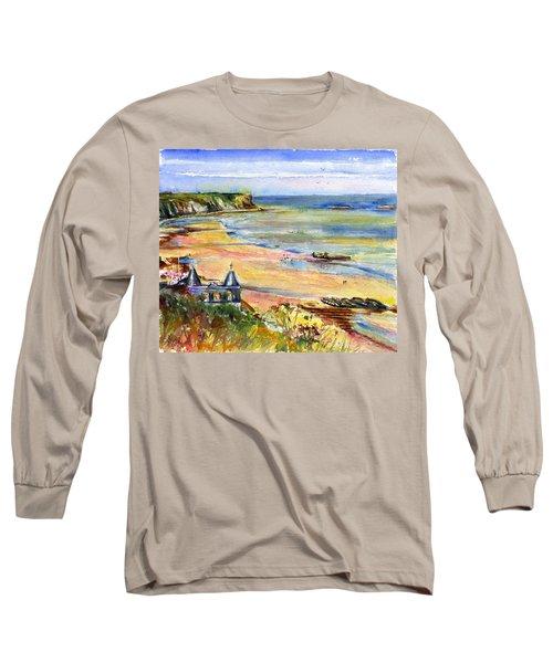 Normandy Beach Long Sleeve T-Shirt by John D Benson