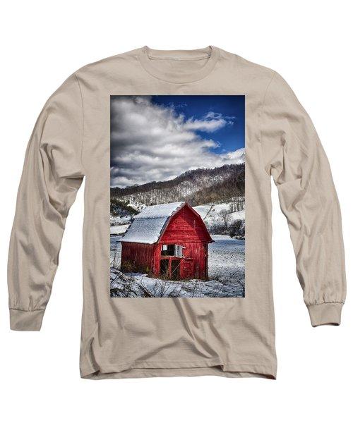 North Carolina Red Barn Long Sleeve T-Shirt by John Haldane