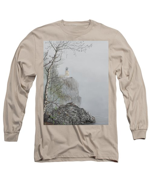 North Shore Lighthouse In The Fog Long Sleeve T-Shirt
