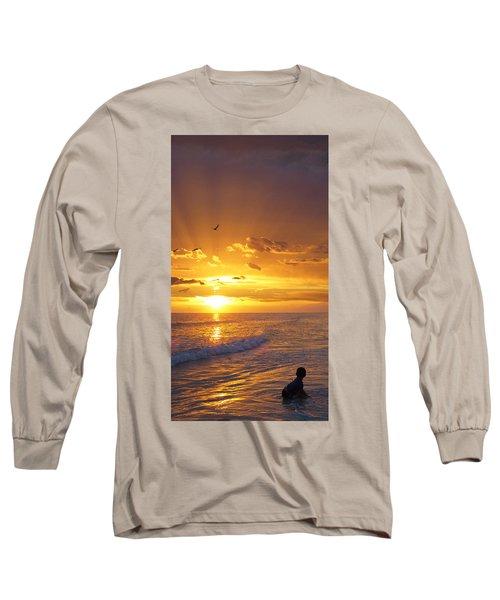 Not Yet - Sunset Art By Sharon Cummings Long Sleeve T-Shirt
