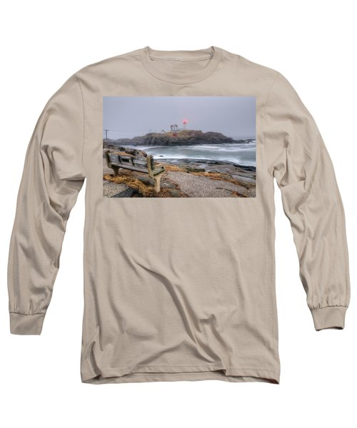 Nubble Lighthouse View Long Sleeve T-Shirt