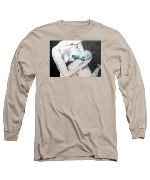 Long Sleeve T-Shirt featuring the painting Nurturing The Sea by Lazaro Hurtado