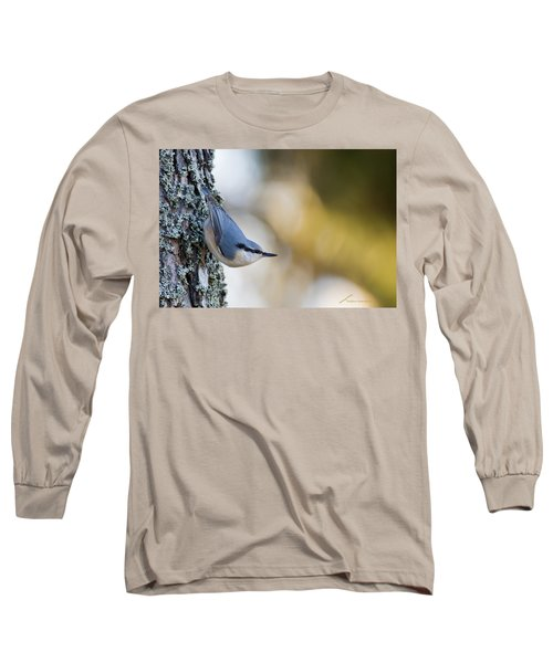 Nuthatch In The Classical Position Long Sleeve T-Shirt