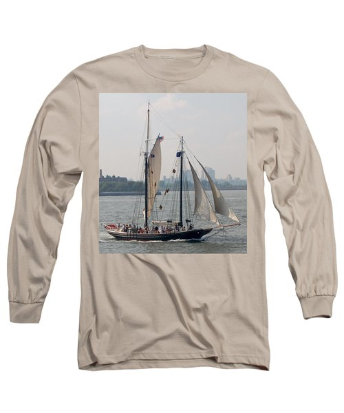 Ny Harbor Schooner Long Sleeve T-Shirt