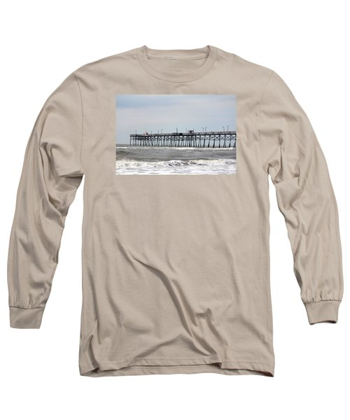 Oak Island Beach Pier Long Sleeve T-Shirt