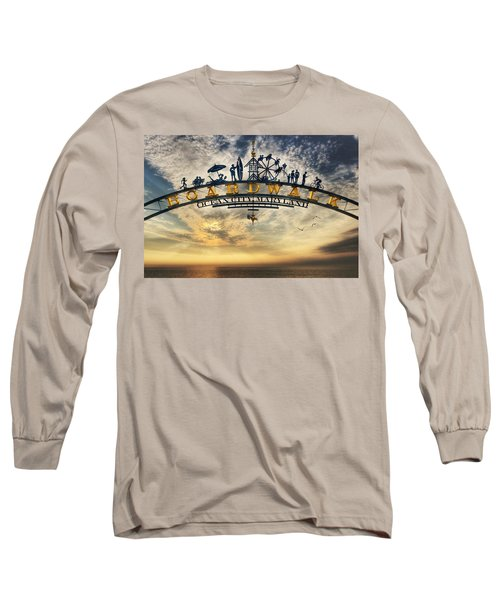Ocean City Boardwalk Long Sleeve T-Shirt by Lori Deiter