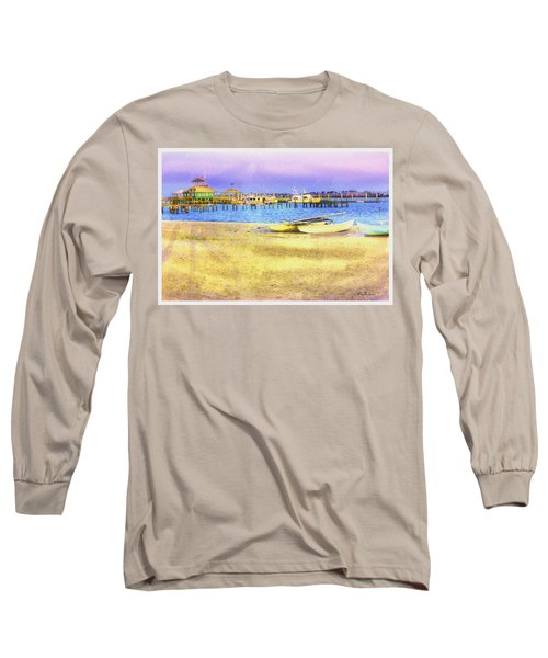 Coastal - Beach - Boats - Ocean Front Property Long Sleeve T-Shirt by Barry Jones