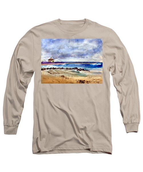Ocean  Inlet Beach In Boynton Beach Long Sleeve T-Shirt