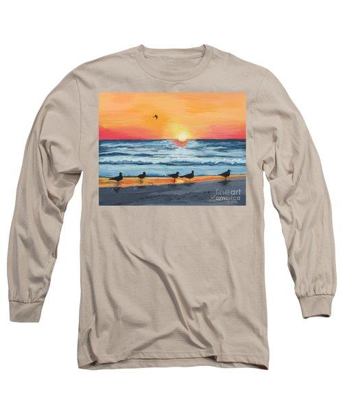 October Sunset On Siesta Key Florida Long Sleeve T-Shirt