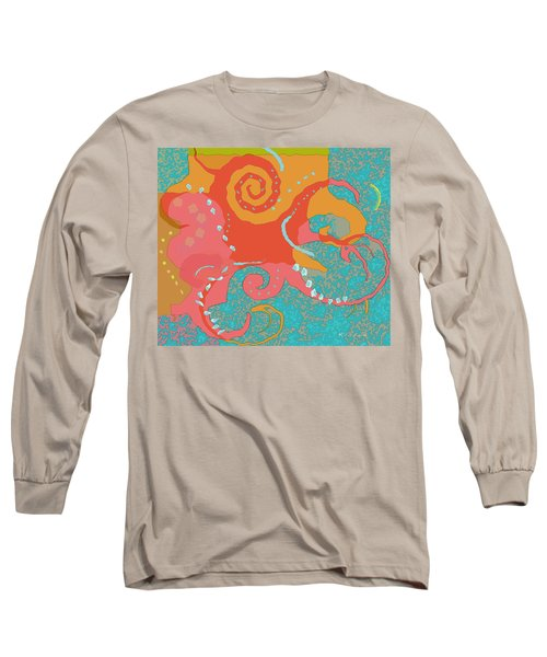 Long Sleeve T-Shirt featuring the painting Octopus 1 by David Klaboe