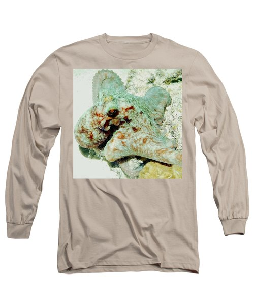 Octopus On The Reef Long Sleeve T-Shirt by Amy McDaniel