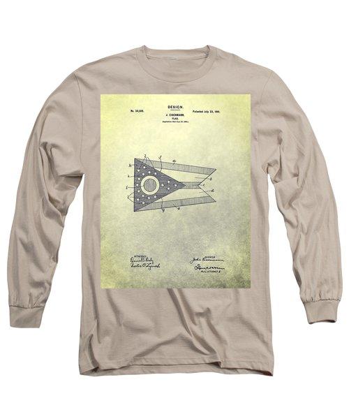 Ohio State Flag Design Long Sleeve T-Shirt
