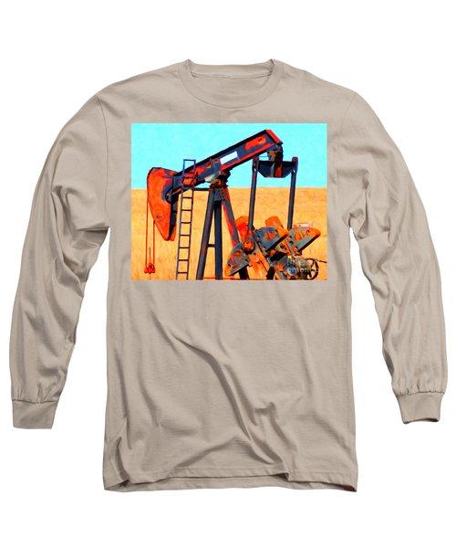 Oil Pump - Painterly Long Sleeve T-Shirt